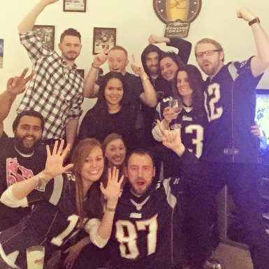 Taken after the Pats won the Super Bowl!  Friends <3